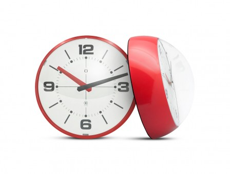 BALL WALL CLOCK Rojo y Blanco