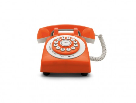 RETRO PHONE 70' naranja