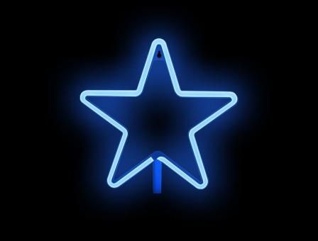 NEON ESTRELLA azul