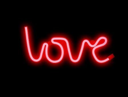 NEON LOVE rojo
